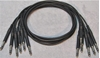 "Afbeeldingen van ADC 3', 1/4"" Nickel, Black TRS Longframe Patch Cable"