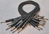 "Image de Neutrik 2', 1/4"" Nickel, Black TRS StarQuad Patch Cable"