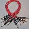 "Image de Neutrik 2', 1/4"" Nickel, Red TRS StarQuad Patch Cable"