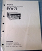 Afbeeldingen van Sony BVW-75 Operation Manual 1st Edition (Revised 2)