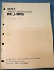 Afbeeldingen van Sony BKU-905 Operation and Maintenance Manual 1st Edition (Revised 1)