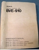 Afbeeldingen van Sony BVE-910 Maintenance Manual 1st Edition (Revised 1)