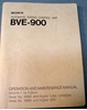 Afbeeldingen van Sony BVE-900 Operation and Maintenance Manual Volume 1 1st Edition