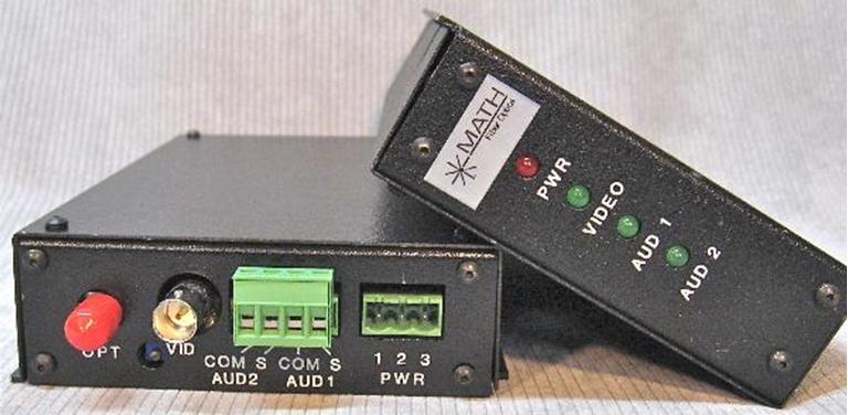 Afbeelding van Math Fiber, FR1220 Fiber Optic AV Transceiver