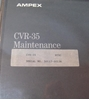 Afbeeldingen van Ampex CVR-35 Maintenance Manual Volume 1