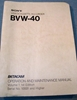 Afbeeldingen van Sony BVW-40 Operation & Maintenance Manual Vol 1, 1st Ed.