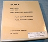 Image de Sony BZE-2001/2501 Edit List Organizer 1st Edition