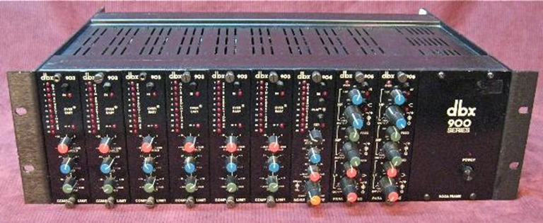 Picture of DBX 900 Frame with 903, 904 and 905 modules