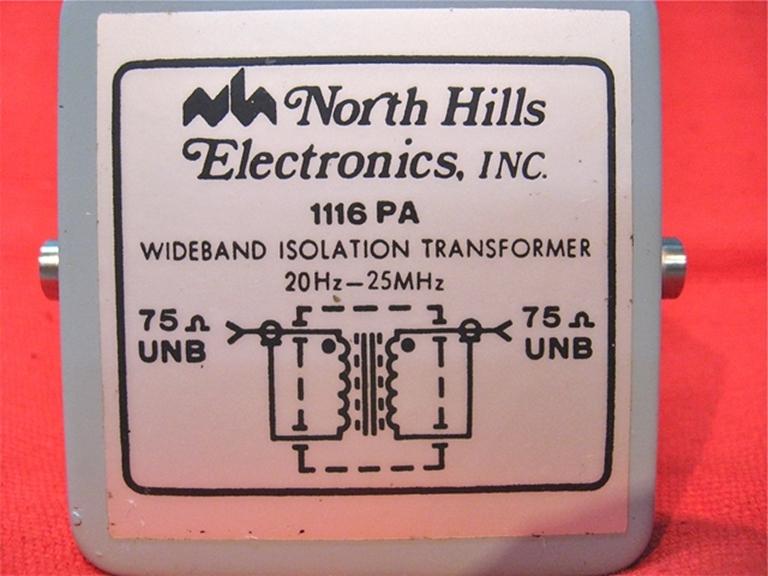 Image sur North Hills Electronics Model 1116PA Isolation Transformer