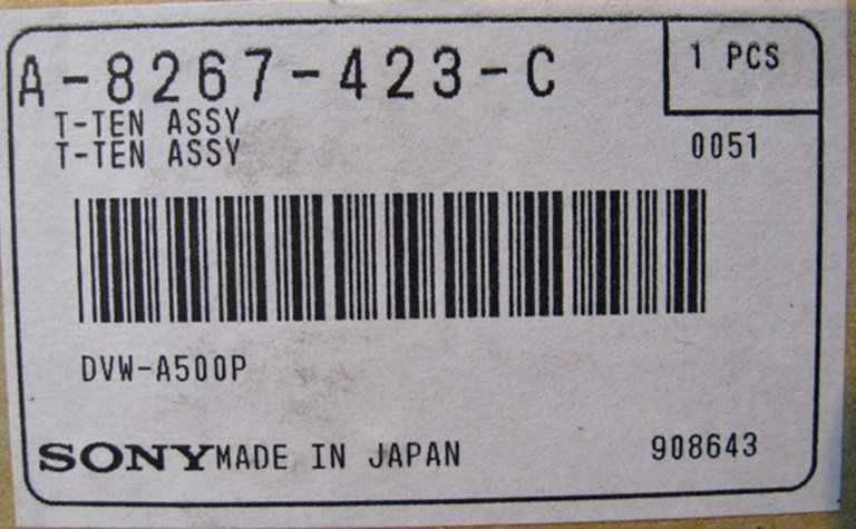 Afbeelding van Sony Tension Assembly for DVW-A500P, NOS