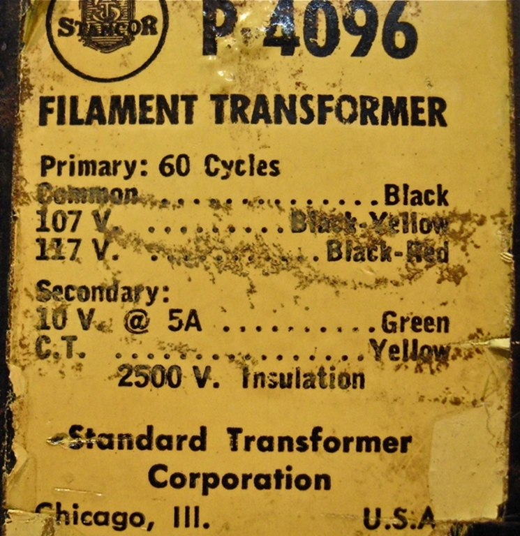 Afbeelding van Chicago Transformer Company P-4096 Filament Transformer