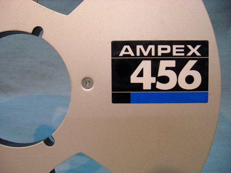 "Picture of Ampex 10""x.25"" Reel, 456 'Grand Master' Label"