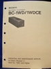 Afbeeldingen van Sony BC-1WD/1WDCE Operation and Maintenance Manual 1st Edition (Revised 1)