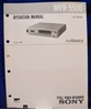 Image de Sony MVR-5500 Operation Manual