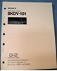 Image de Sony BKDV-101 Maintenance Manual 1st Edition (Revised 3)