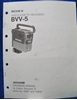 Image de Sony BVV-5 Operation Manual, 1st Ed, (Revised 3)