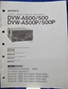 Image de Sony DVW-A500/500/A500P/500P Operation Manual 1st Edition (Revised 1)