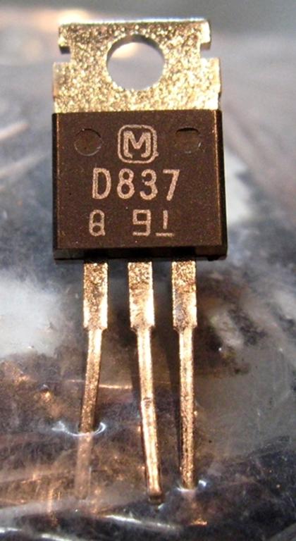 Afbeelding van Panasonic 2SD837Q Transistors, NOS, 100/bag