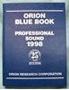 Picture of Orion Blue Book: 1998 Professional Sound