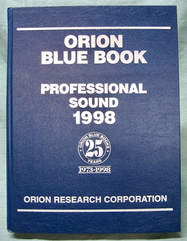 Afbeelding van Orion Blue Book: 1998 Professional Sound