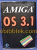 Picture of Amiga OS 3.1 package of manuals and 6 Floppies.